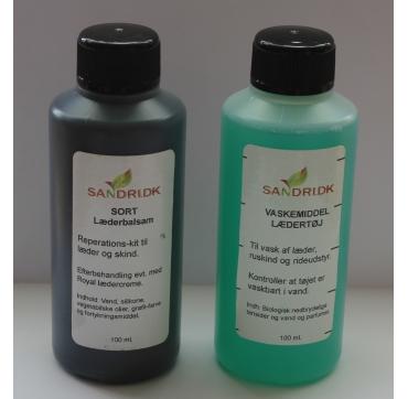 Vaskemiddel og balsam til sort læder